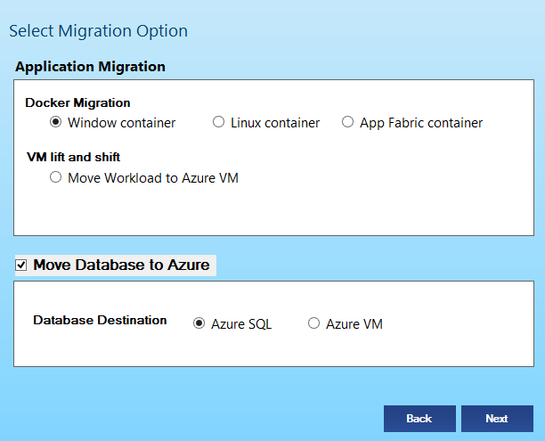 Azure Migration Options CloudPilot